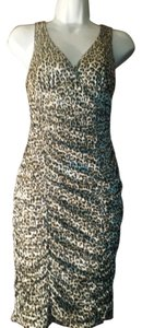 Body Central Animal Print Backless Dress