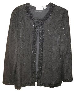 Laurence Kazar Vintage Beaded Black Jacket