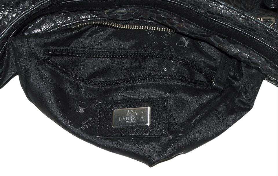 6a598f7520 Barbara Milano Black Leather Shoulder Bag - Tradesy