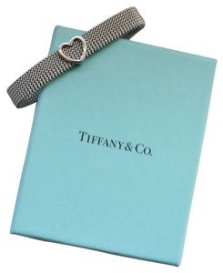 Tiffany & Co. Tiffany & Co. Stainless Steel Somerset Heart Mesh Stretch Bracelet