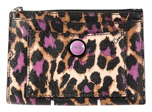 Coach * Coach Purple Leopard Wallet