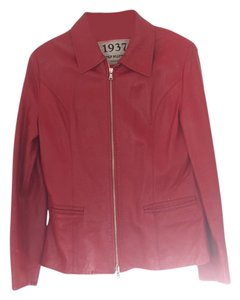Antica Pelletteria Red Leather Jacket