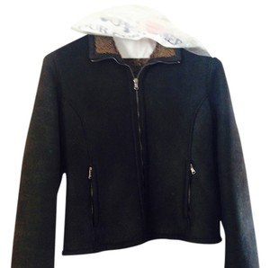 Barneys New York black Leather Jacket