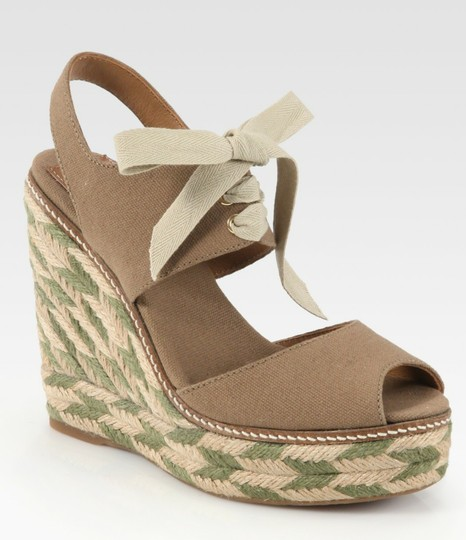 Tory Burch Light brown and Olive Wedges Image 1