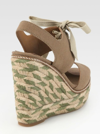 Tory Burch Light brown and Olive Wedges Image 2