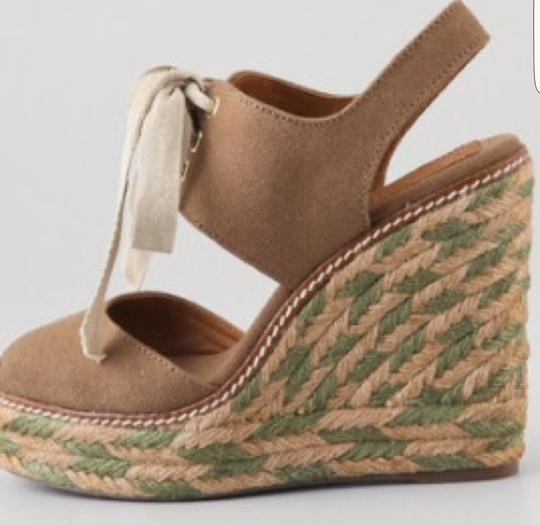 Tory Burch Light brown and Olive Wedges Image 3