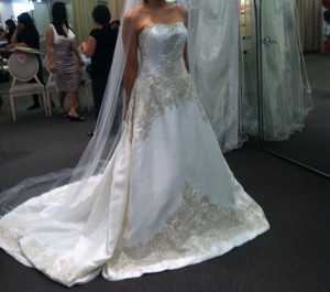 Oleg Cassini Mikado Ball Gown Wedding Dress
