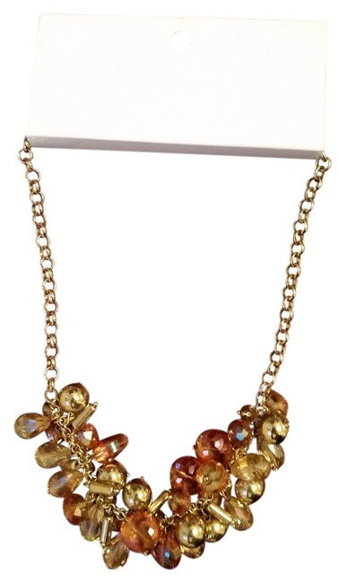 Item - Pink And Gold Colored Necklace