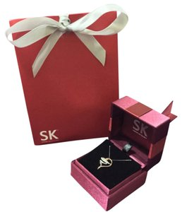 SK Jewellery 10K Gold Necklace with Heart-Shaped Pendant