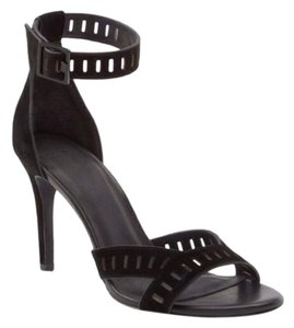 Joie Suede Airlie Ankle Strap Black Sandals