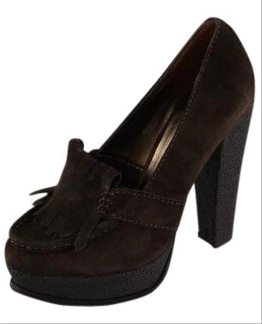 Pelle Moda Brown Suede Kitty Pumps Size US 7.5 Regular (M, B) Pelle Moda Brown Suede Kitty Pumps Size US 7.5 Regular (M, B) Image 1