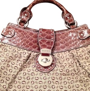 Guess Purse Satchel in Brown