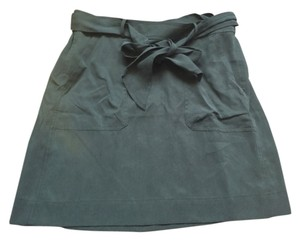 Ann Taylor LOFT Mini Pockets Mini Skirt Army Green