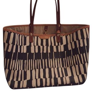 Henri Bendel Tote in Brown, Cream