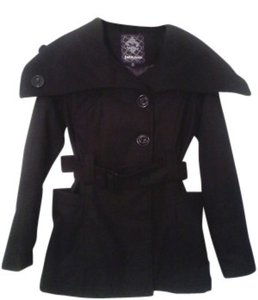 Dollhouse Wide Collar Belted Pea Coat