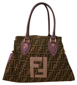 Fendi Tote in Puple/Black