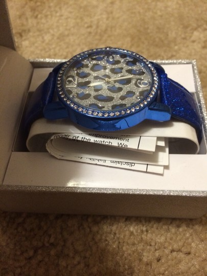 Other Cheetah Print Dark Blue Watch