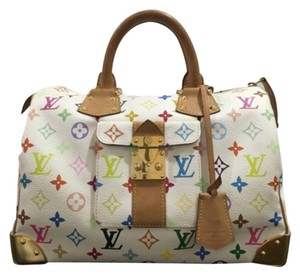 Louis Vuitton Satchel in White And Multicolor