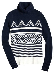 J.Crew Turtleneck Printed Warm Sweater