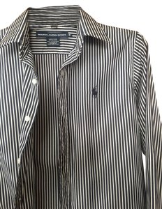 Ralph Lauren Button Down Shirt black/white