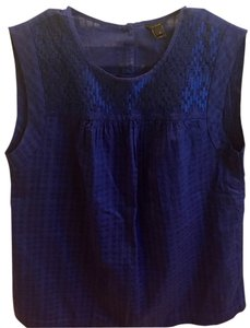 J.Crew Sleeveless J Crew Size 4 Top Royal blue