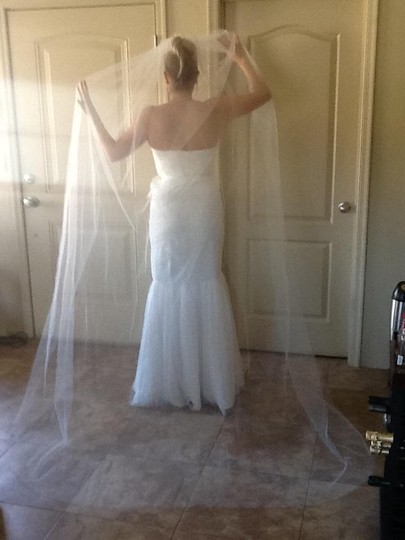 Nina White Long Claire: Cathedral Length Romantic Bridal Veil