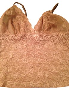 Victoria's Secret Spandex Lace Top Brown