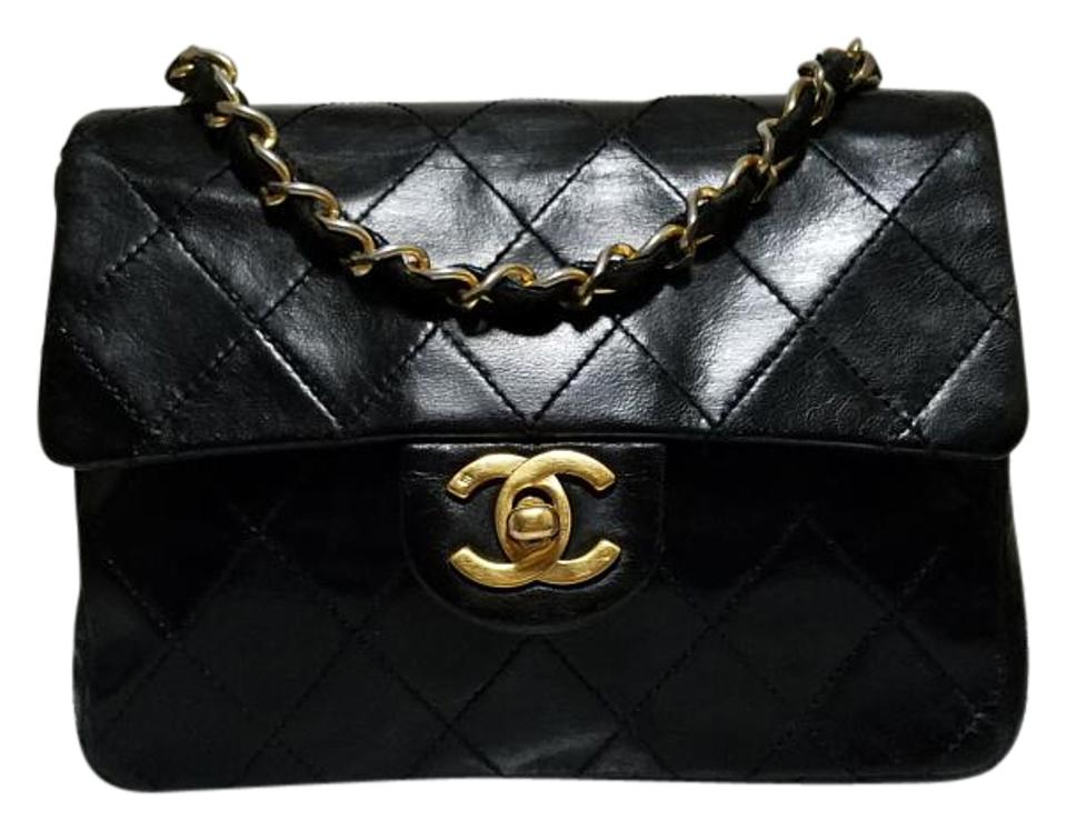 dac5f8a7424e7d Chanel Vintage Lambskin Caviar Classic Flap Mini Cross Body Bag Image 0 ...