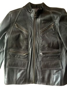 Fitted Biker Motorcycle Leather Jacket