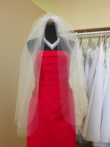 Two Tier Fingertip White Wedding Veil