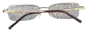 Chanel Chanel Silver Designer Fashion Glasses Frames Gemstone Accent Made in Italy