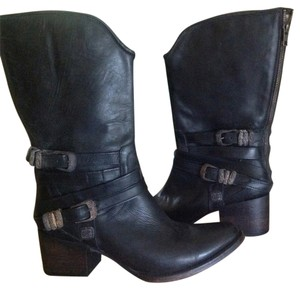 FreeBird Pikes Leather Western Black Boots