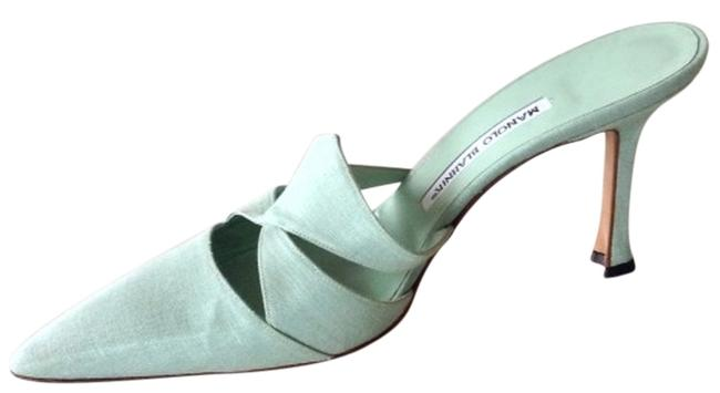 Item - Icy Mint Pointed-toe Mule Formal Shoes Size US 8 Regular (M, B)