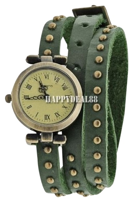 Item - Green Woman Classic Roma Number Dial Quartz Classic Leather Strap Watch
