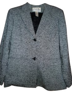 Jones New York Tweed Suit Coat Black/White Tweed Blazer