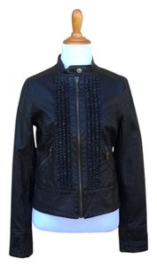 Miss Sixty Leather Biker Chic Brown Jacket