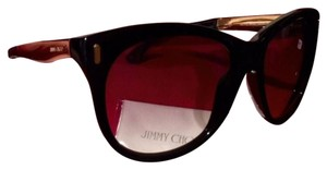 Jimmy Choo NEW -ALLY/S w/Case & tag! Black/Gold Jimmy Choos - Fabulous!!!!