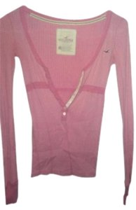 Hollister Tee Cotton Longsleeve Cute T Shirt Pink