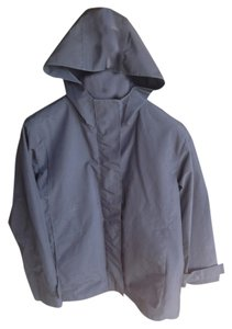 DKNY Hooded Lightweight Spring Water-resistant Water-repellant Raincoat