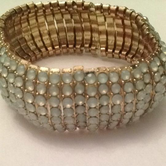 Banana Republic Stretch Bracelet With Light Blue Jems