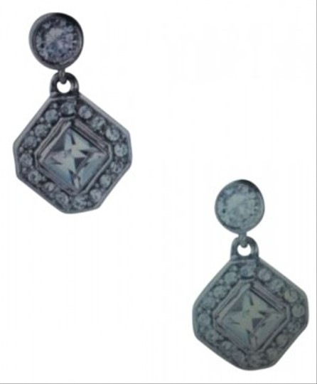 Carolee Lux Jill Square Cut Crystal Drop Earrings