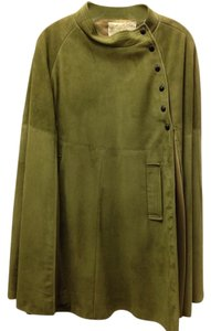Other Suede Green Classic Chic Sophisticated Work Night Out Date Night Office Cape