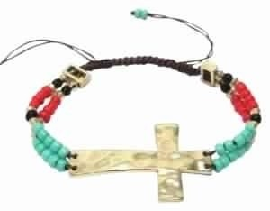 Lulu Stretch cross bracelet