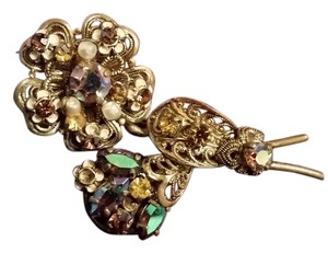 Ornate Floral Brooch Pin