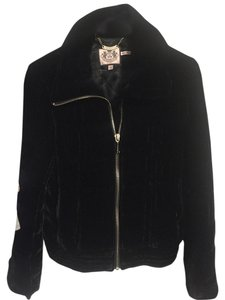 Juicy Couture Warm Velvet Designer Black Jacket