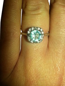 Other stunning blue topaz princess ring.size7