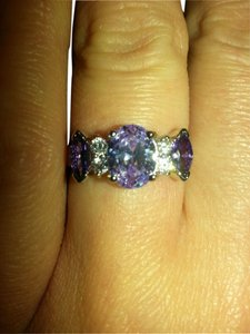 Other rare purple and levender amethyst cocktail ring. Size 7.