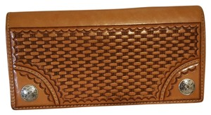 American West Brown Leather Clutch Wallet