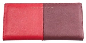 Marc by Marc Jacobs Marc By Marc Jacobs Red Two Toned Bi Fold Check Wallet