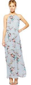 floral, blue Maxi Dress by Oasis